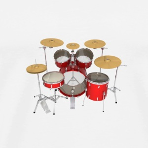Red Drum Kit: Button - Men's Premium T-Shirt