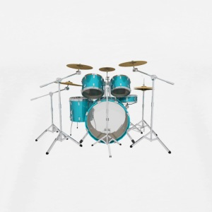 Aqua Drum Kit: Button - Men's Premium T-Shirt