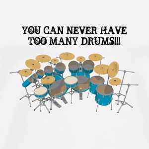 Too Many Drums! Button - Men's Premium T-Shirt