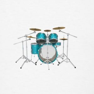Aqua Drum Kit: Button - Men's T-Shirt