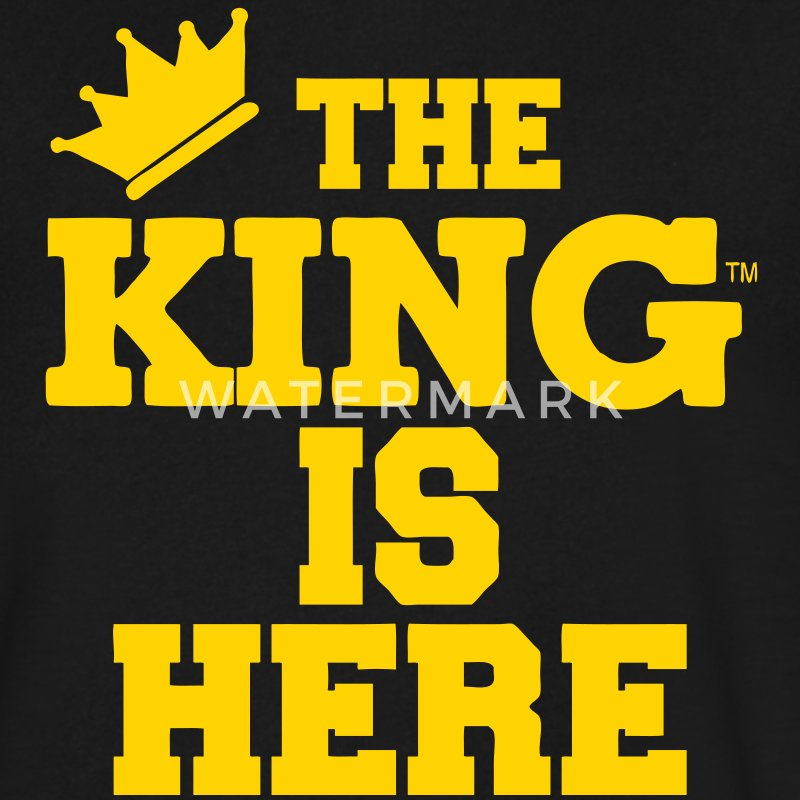 THE KING IS HERE T-Shirts - Men's V-Neck T-Shirt by Canvas