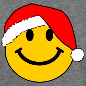 Santa Smiley Face for Christmas T-Shirts - Women's Wideneck Sweatshirt