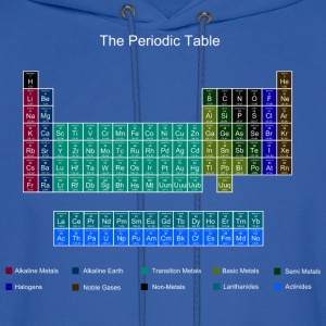 Blue Stylish Periodic Table of Elements T-Shirts - Men's Hoodie