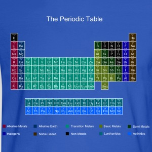 Blue Stylish Periodic Table of Elements T-Shirts - Men's Long Sleeve T-Shirt