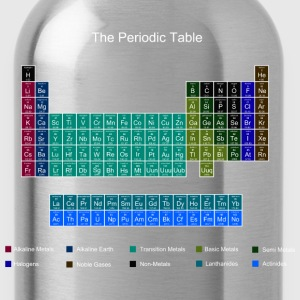 Blue Stylish Periodic Table of Elements T-Shirts - Water Bottle