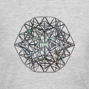 Geometric Beauty:  023 Node - Gray Nebula - Women's Long Sleeve Jersey T-Shirt