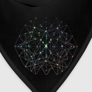 Geometric Beauty:  023 Node - Gray Nebula - Bandana