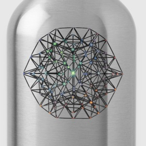 Geometric Beauty:  023 Node - Gray Nebula - Water Bottle
