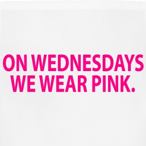 on wednesday we wear pink Women's T-Shirts - Adjustable Apron