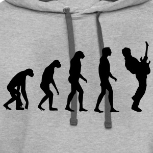 Guitar Player Evolution T-Shirts - Contrast Hoodie
