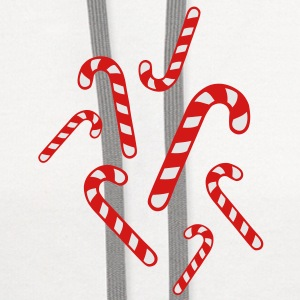 Candy cane christmas Buttons - Contrast Hoodie