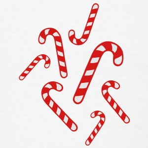Candy cane christmas Buttons - Men's T-Shirt