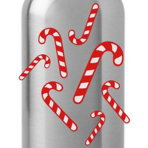 Candy cane christmas T-Shirts - Water Bottle