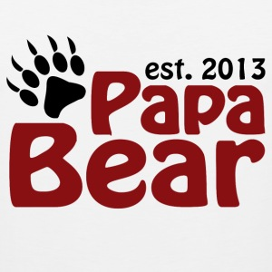 Papa Bear Claw Est 2012 T-Shirts - Men's Premium Tank