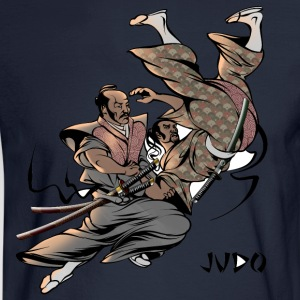 Judo Throw Design Mens T- Shirt Samurai Uki Otoshi - Men's Long Sleeve T-Shirt