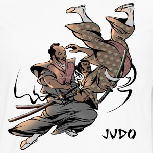 Judo Throw Design Mens T- Shirt Samurai Uki Otoshi - Men's Premium Long Sleeve T-Shirt