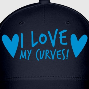 i love my curves with funky hearts Women's T-Shirts - Baseball Cap