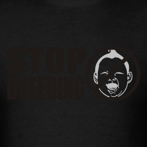 Black stopbreeding Hoodies - Men's T-Shirt