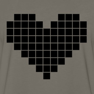 Pixel Heart - Men's Premium Long Sleeve T-Shirt