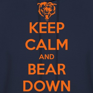 Keep Calm and Bear Down T-Shirts - Men's Hoodie
