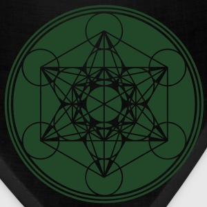 Vector - Metatrons Cube - Flower of Life T-Shirts - Bandana