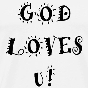 God Loves U! - Men's Premium T-Shirt
