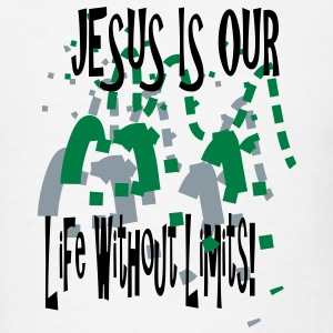 Jesus is our life without limits - Men's T-Shirt