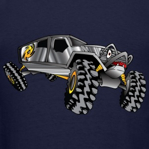 cartoon 4x4 rock crawler race truck, grey - Men's T-Shirt