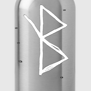 Healing - Viking Symbol  A Rune based Symbol meani - Water Bottle