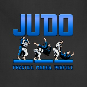 Judo Throw Design Kids T- Shirt Practice Makes Per - Adjustable Apron