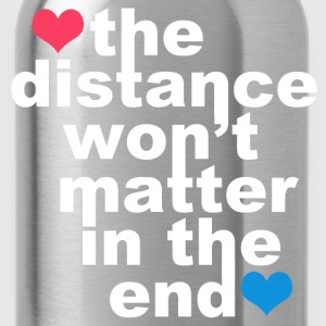Distance Wont matter in the End White with Hearts Hoodies - Water Bottle