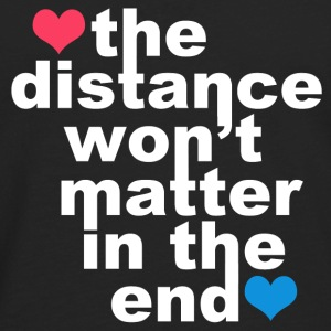 Distance Wont matter in the End White with Hearts Hoodies - Men's Premium Long Sleeve T-Shirt