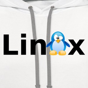 the linux tee v1.0 - Contrast Hoodie