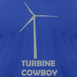 Turbine Cowboy - Men's T-Shirt by American Apparel