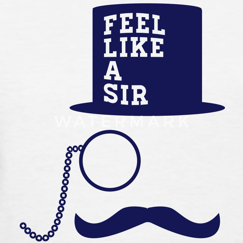 sir monocle top hat mustache man Women's T-Shirts - Women's T-Shirt