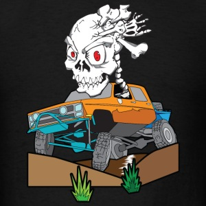 Skull Crazed 4x4 rock crawler truck - Men's T-Shirt