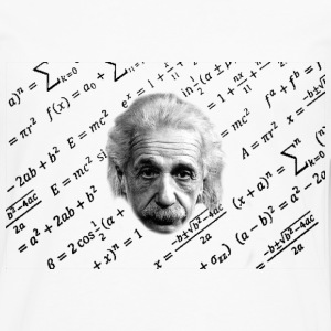 Albert Einstein T-shirt formula - Men's Premium Long Sleeve T-Shirt