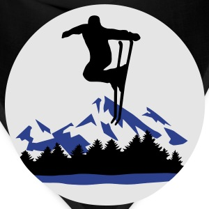 Ski and Mountains, skiing Hoodies - Bandana