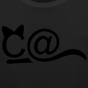 CAT - crouching - 1 Color Women's T-Shirts - Men's Premium Tank