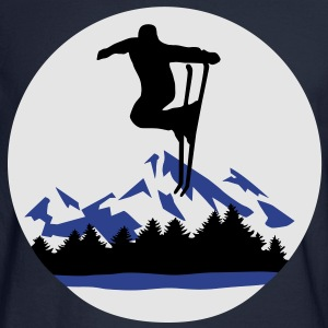 Ski and Mountains, skiing Hoodies - Men's Long Sleeve T-Shirt