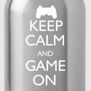 Keep Calm and Game On - Water Bottle