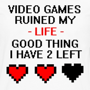 Video Games Ruined My Life  - Men's Premium Long Sleeve T-Shirt