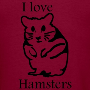 hamster_i_love_hamsters Hoodies - Men's T-Shirt