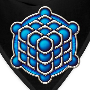 3D Cube - crop circle - Metatrons Cube - Hexagon / T-Shirts - Bandana