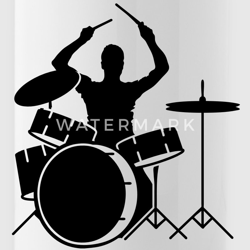 A drummer and drums Accessories - Water Bottle