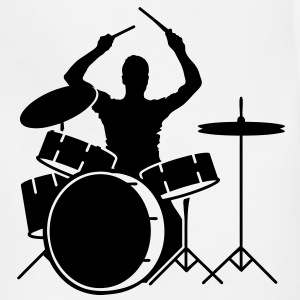 A drummer and drums T-Shirts - Adjustable Apron
