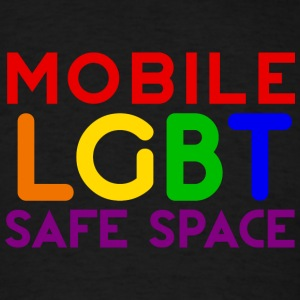 Mobile LGBT Safe Space Hoodies - Men's T-Shirt