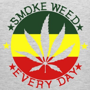 smoke weed every day T-Shirts - Men's Premium Tank
