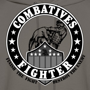 Combaives Fighter Shield.png T-Shirts - Men's Hoodie