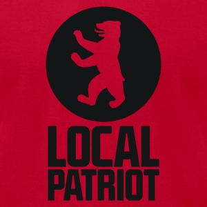 Local Patriot Bear Long Sleeve Shirts - Men's T-Shirt by American Apparel